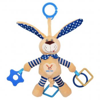 Плюшевая подвеска с вибро Baby Mix STK-17504 Кролик STK-17504B, blue, голубой