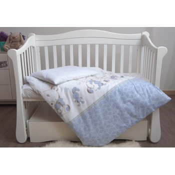Сменная постель 3 эл Twins Eco Line New 3091-E-026, Best friend grey, белый / серый
