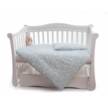Сменная постель 3 эл Twins Dolce Лесные жители 3063-D-012, mint, мятный