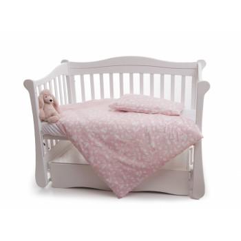 Сменная постель 3 эл Twins Dolce Лесные жители 3063-D-013, pink, розовый