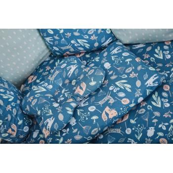Сменная постель 3 эл Twins Dolce Лесные жители 3063-D-014, dark blue, синий