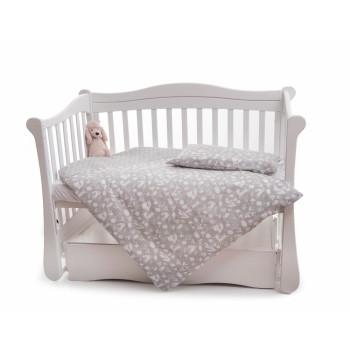 Сменная постель 3 эл Twins Dolce Лесные жители 3063-D-016, grey, серый