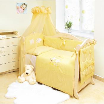 Постельный комплект 8 эл Twins Evo Кот и пес 4073-A-102, yellow, желтый