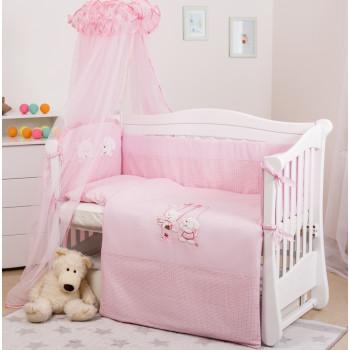 Постельный комплект 8 эл Twins Evo Кот и пес 4073-A-104, pink, розовый