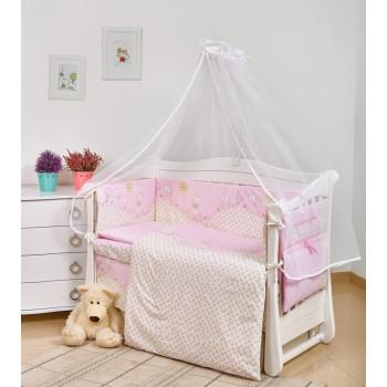 Постельный комплект 7 эл Twins Comfort New 4051-C-116, Игрушки розовые, розовый