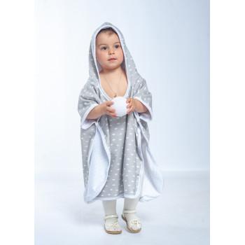 Пончо - полотенце Twins разм до 2 л. 1501-T2-10, grey, серый