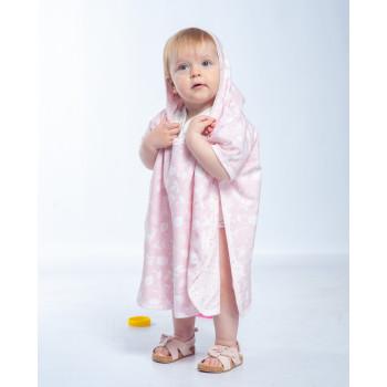 Пончо - полотенце Twins разм до 2 л. 1501-T2-08, pink, розовый
