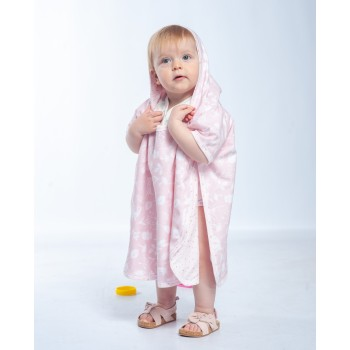 Пончо - полотенце Twins разм до 5 лет. 1501-T5-08, pink, розовый