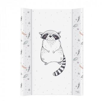 Пеленальная доска Cebababy 50x70 Retro Autumn W-200-000-636, Raccoon, белый