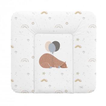 Пеленальный матрас Cebababy 75x72 Retro Autumn W-144-000-638, Big Bear, белый