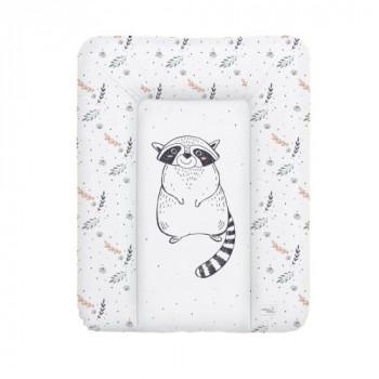 Пеленальный матрас Cebababy 50x70 Retro Autumn W-143-000-640, Raccoon, белый