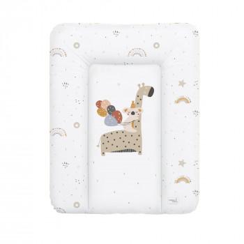 Пеленальный матрас Cebababy 50x70 Retro Autumn W-143-000-637, Giraffe, белый