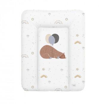Пеленальный матрас Cebababy 50x70 Retro Autumn W-143-000-638, Big Bear, белый