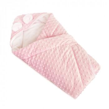 Конверт - плед Twins Minky Ушки 80х80 (шерстепон) 9014-TV-08, pink, розовый