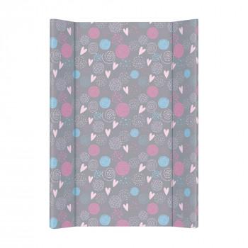 Пеленальная доска Cebababy 50x70 Lolly Polly W-200-120-609, Love, серый / розовый