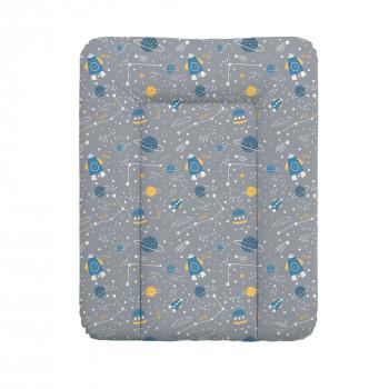Пеленальный матрас Cebababy 50x70 Candy Andy W-143-121-610, Cosmo, серый / синий