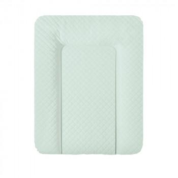 Пеленальный матрас Cebababy 50x70 Caro Premium line W-143-079-157, mint, мятный