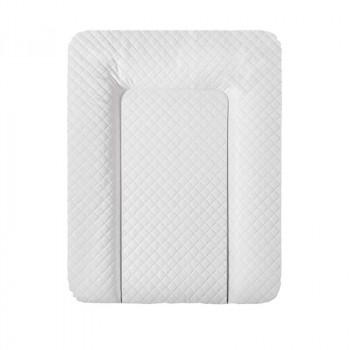 Пеленальный матрас Cebababy 50x70 Caro Premium line W-143-079-101, white, белый