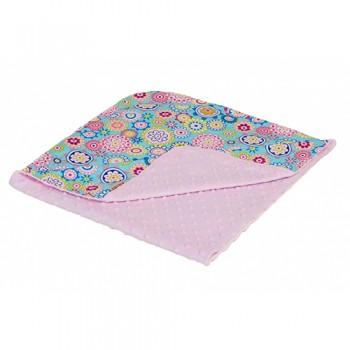 Конверт - плед Twins Minky Лето 75х75 1408-TL-08 pink, розовый