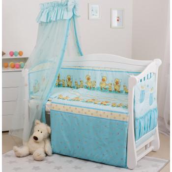 Постельный комплект 8 эл Twins Standard Basic 4050-CB-025, Утята голубые, голубой