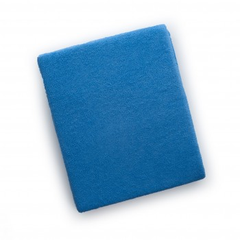 Простыня на резинке Twins 120x60 махровое 6020-09, dark blue, синий