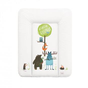 Пеленальный матрас Cebababy 50x70 Azteca & Nature W-143-103-100, Animals / Зверюшки, белый