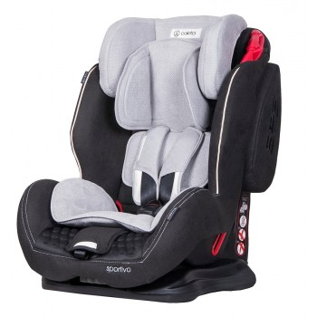 Автокрісло Coletto Sportivo 9-36 grey+black, сірий/чорний