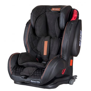 Автокресло Coletto Sportivo Only Isofix 9-36 black, черный