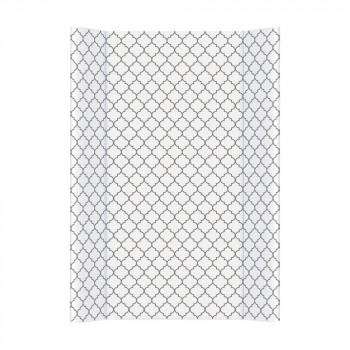 Пеленальная доска Cebababy 50x70 Day & Night W-200-094-518, Morroccan Clover / Марокканский клевер, белый / серый