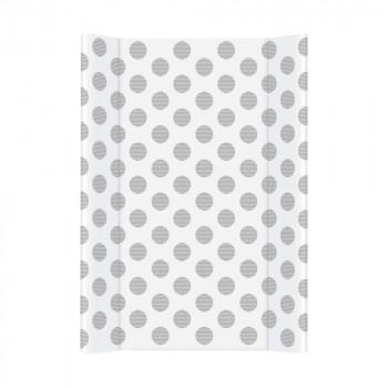 Пеленальная доска Cebababy 50x70 Day & Night W-200-094-523, Polka Dots / Горохи, белый / серый
