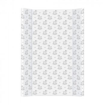 Пеленальная доска Cebababy 50x70 Day & Night W-200-094-520, Rocking Horse / Кузнечики, белый / серый