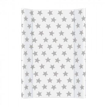 Пеленальная доска Cebababy 50x70 Day & Night W-200-094-522, Stars / Звездочки белый / серый