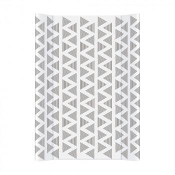 Пеленаьная доска Cebababy 50x70 Day & Night W-200-094-521, Rocking Triangles / Треугольники, белый / серый