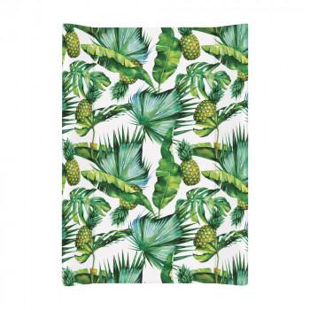 Пеленальная доска Cebababy 50x70 Flora & Fauna W-200-099-545, Pina, белый / зеленый
