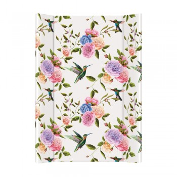 Пеленальная доска Cebababy 50x80 Flora & Fauna W-210-099-546, Flores, белый / розовый