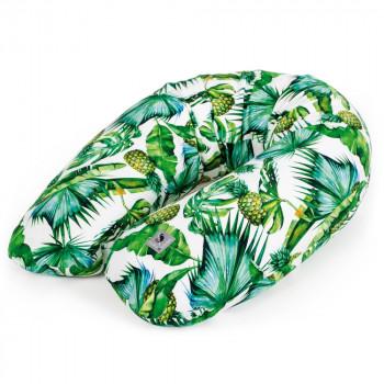 Подушка для беременных Ceba Physio Multi Flora & Fauna W-741-099-545, Pina, белый / зеленый