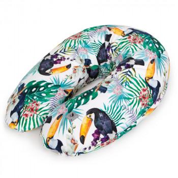Подушка для беременных Ceba Physio Multi Flora & Fauna W-741-099-544, Tucan, зеленый