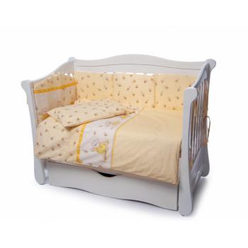 Постельный комплект 4 эл Twins Comfort New бампер подушки 4052-C-110, Медун желтые, желтый