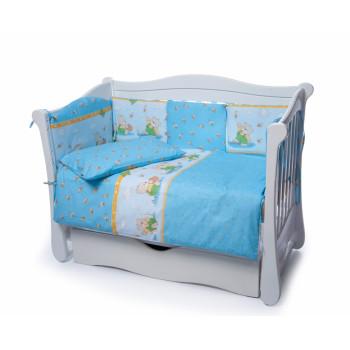 Постельный комплект 4 эл Twins Comfort New бампер подушки 4052-C-111, Медун голубые, голубой