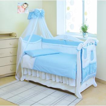 Постельный комплект 8 эл Twins Magic sleep 4070-M-001, blue, голубой