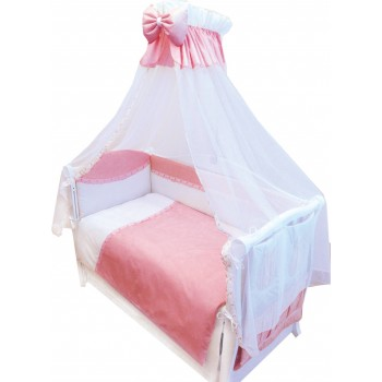 Постельный комплект 8 эл Twins Magic sleep 4070-M-004, pink, розовый