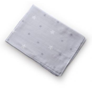 Пеленка Twins муслиновый 110х75 цвета в ассортименте / 1610-TPM-10242, Звездочка серая, серый