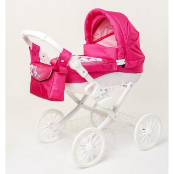 Коляска для куклы Adbor Lily White Lw-01, 01 розовый