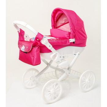 Коляска для куклы Adbor Lily White Lw-02, 02 розовый
