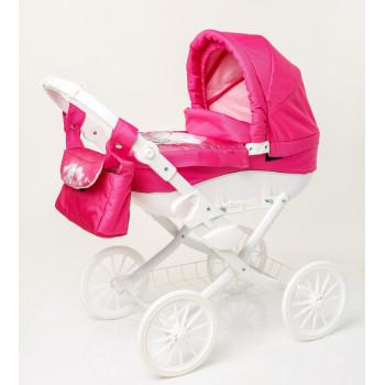 Коляска для куклы Adbor Lily White Lw-03, 03, розовый