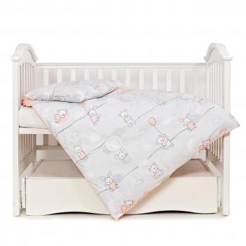 Сменная постель 3 эл Twins Modern 3040-PM-08 Зайчики розовые, розовый