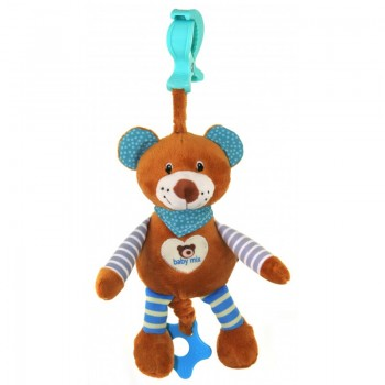 Плюшевая подвеска музыкальная Baby Mix STK-16393 Мишка STK-16393B, blue, голубой