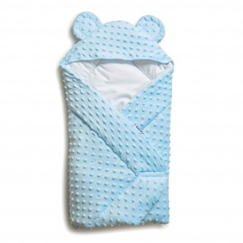 Конверт - плед Twins Minky Ушки 80х80 (силикон) 9013-TV-04, blue, голубой