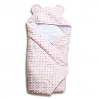 Конверт - плед Twins Minky Ушки 80х80 (силикон) 9013-TV-08, pink, розовый