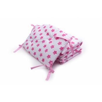 Бампер Twins Premium Стеганый 2027-P-062, Звездочка розовая, розовый